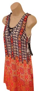 My Michelle short dress Pink Orange Blue White Small Lace-up on Tradesy