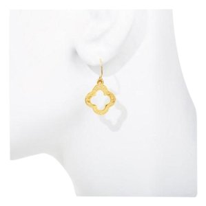 Janna Conner Vermeil Clover 18k Gold Plated Earrings