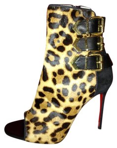 Christian Louboutin Suede Triboclou Leopard Pony Boots