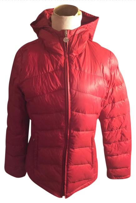Calvin Klein Red XS Nwot-xs/Small-calvin Light Weight Packable Down Hooded Puffer Coat Size 4 (S) Calvin Klein Red XS Nwot-xs/Small-calvin Light Weight Packable Down Hooded Puffer Coat Size 4 (S) Image 1
