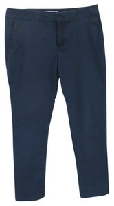 Banana Republic Fitted Classic Capri/Cropped Pants Navy Blue