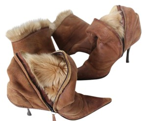 Giuseppe Zanotti Knee High Fur Light brown Boots
