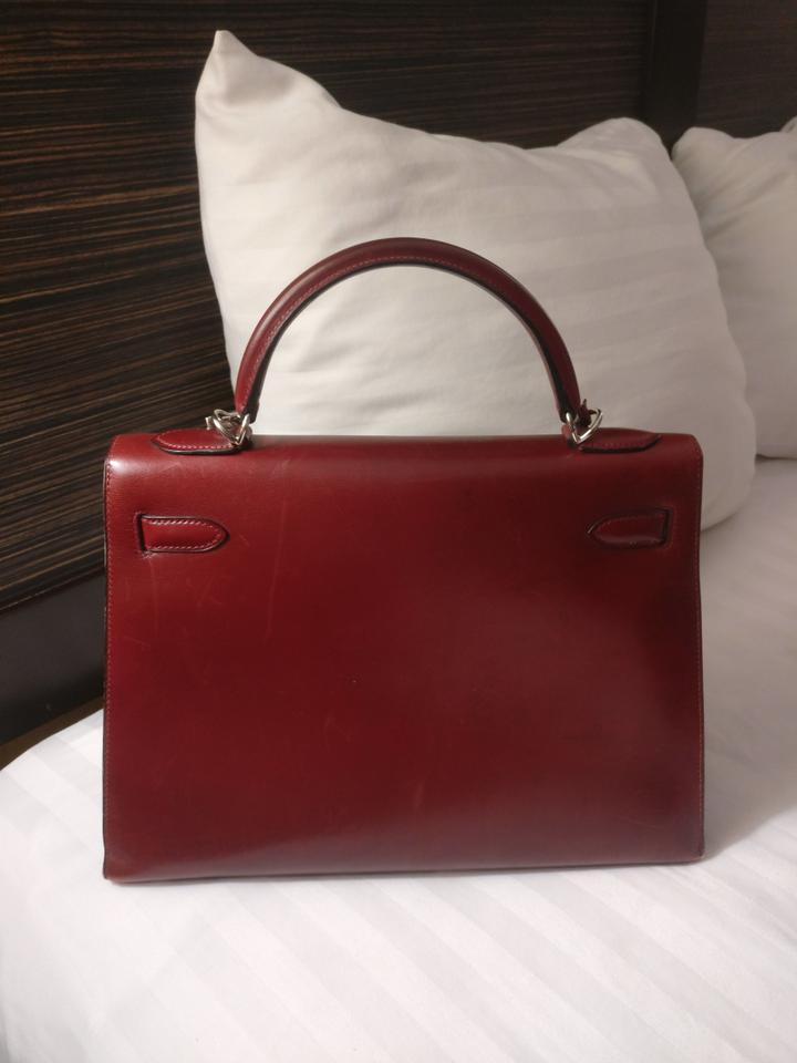 Hermès Kelly Sellier 32cm In Red Mahogany Veau Brown Leather Shoulder Bag -  Tradesy d54dae31bfe15