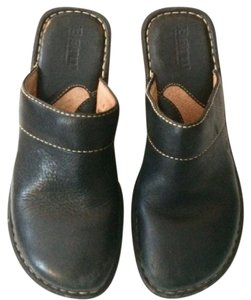 Børn Chunky Leather Black Mules