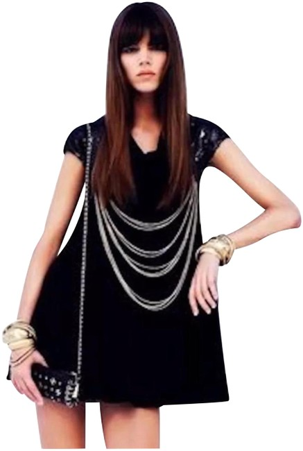 Item - Runway with Chains Short Casual Dress Size 4 (S)