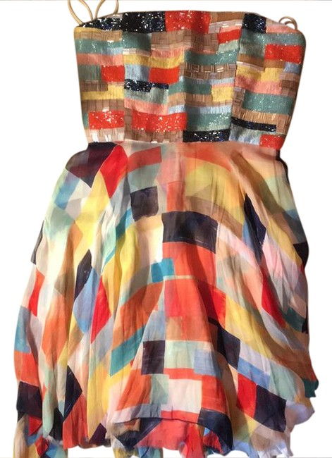 Alice + Olivia Multicolor Short Cocktail Dress Size 4 (S) Alice + Olivia Multicolor Short Cocktail Dress Size 4 (S) Image 1