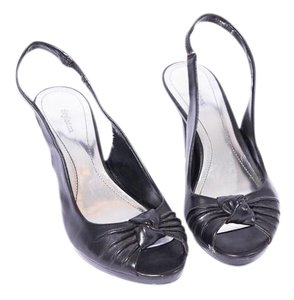 Style & Co & Co. Open Toe Slingback Black Sandals