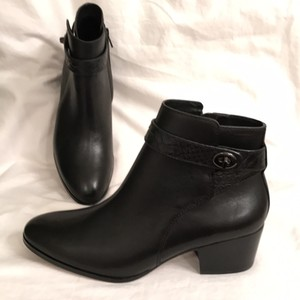Coach New/nwt Leather Ankle Ankle Dress Black Boots
