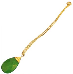 R.J. Graziano green jade drop necklace