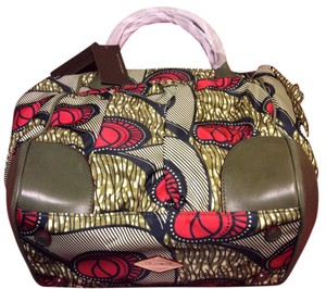 MZ Wallace Tote in Multi color with Green trimming