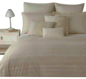 Hugo Boss Como Queen Duvet Cover Textured Ivory Jacquard