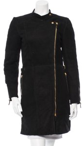 Gucci Womens Shearling Leather Fur Coat
