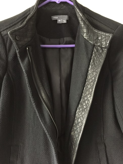 Vince Quilted Leather Structured Lambskin Cotton Motorcycle Jacket Image 1