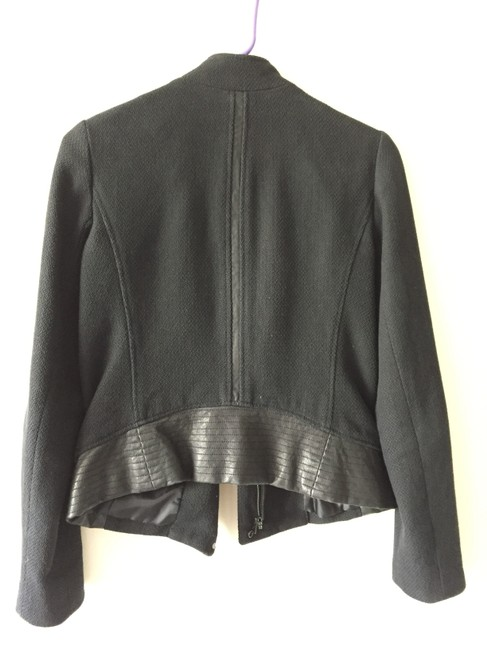 Vince Quilted Leather Structured Lambskin Cotton Motorcycle Jacket Image 2