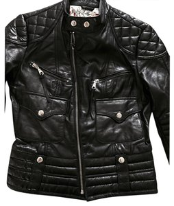 Kenna-T black Leather Jacket