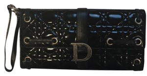 Dior Black patent leather Clutch