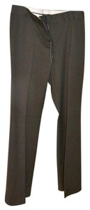 Tahari Wool Slacks Theora Slight Flare Pants PEAT (Deep Brown)