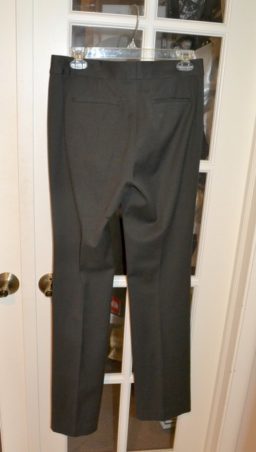 Tahari Wool Slacks Theora Slight Flare Pants PEAT (Deep Brown) Image 1