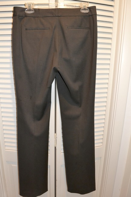 Tahari Wool Slacks Theora Slight Flare Pants PEAT (Deep Brown) Image 10
