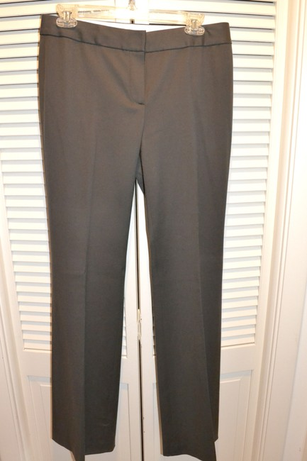 Tahari Wool Slacks Theora Slight Flare Pants PEAT (Deep Brown) Image 11