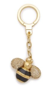 Kate Spade KATE SPADE Down THE Rabbit Hole QUEEN CRYSTAL BEE KEYCHAIN RING FOB