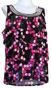 Venezia by Lane Bryant New With Tags Beaded Top Pink Multi Color