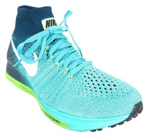 Nike Running Training Flyknit Blue & Teal Athletic