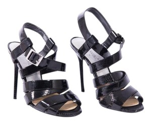 ShoeDazzle Evening Party Open Toe Black Sandals