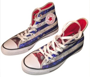 Converse red, white and blue sequins Athletic