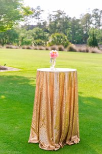 Gold Sequin Tablecloths (multiple Sizes)