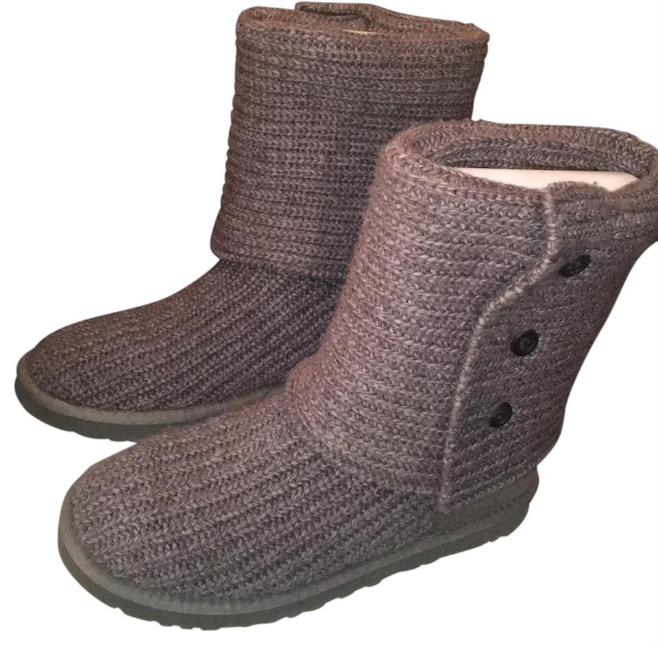 8c0f2ea06ae UGG Australia Grey Classic Cardy Boots/Booties Size US 8 Regular (M, B) 36%  off retail