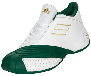 adidas green/white Wedges