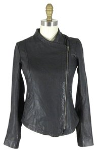 Lucky Brand Leather Motorcycle Classic Versatile Edgy Leather Jacket