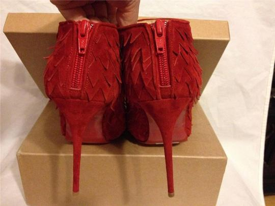 Christian Louboutin Diplonana Scale Open Toe Red Boots Image 4