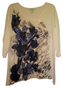 Style & Co Exclusive Beaded 3/4 Sleeve Tunic