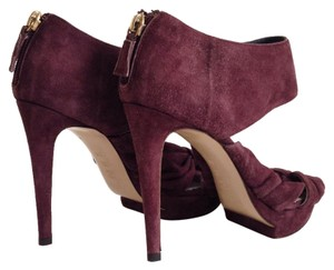 Pollini Suede Purple Sandals