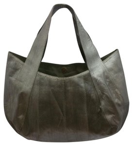 Beirn Snakeskin Gray Tote