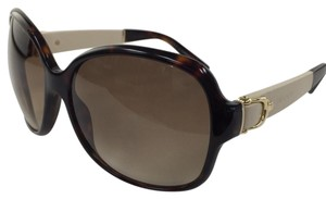 Gucci New Gucci GG 3638/S oxmcc Brown Gold Leather Temple Plastic Style Sunglasses 125mm