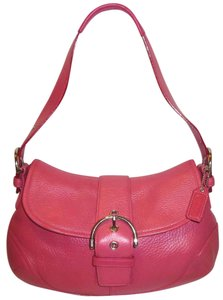 Coach Refurbished Pebbled Leather Lined Shoulder Bag