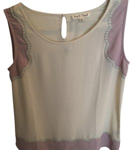 Hem & Thread Top lilac & cream
