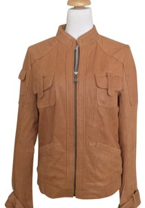 Calvin Klein camel Leather Jacket