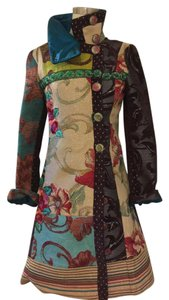 Desigual Red, blue, green, camel Jacket