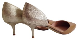 Enzo Angiolini Nude/Gold Pumps