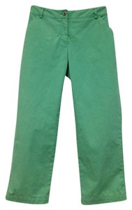 Brooks Brothers Red Fleece Cropped Capri Spring Summer Capri/Cropped Pants Green