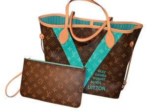 Louis Vuitton Lv Mono Tote Pochette Shoulder Bag