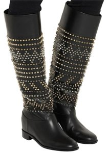 Christian Louboutin Rom Chick Spiked Studded Black Boots