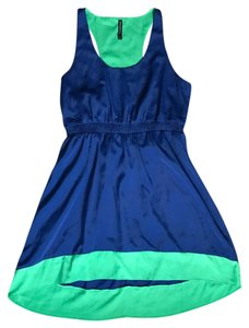 W118 by Walter Baker short dress blue and green on Tradesy
