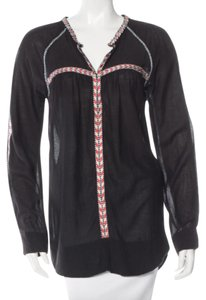 Étoile Isabel Marant Embroidered Top black