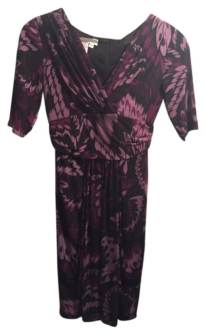 Preload https://item4.tradesy.com/images/maggy-london-purple-and-black-above-knee-workoffice-dress-size-2-xs-2074643-0-0.jpg?width=400&height=650