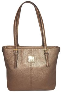 Anne Klein Refurbished Lined Tote in Taupe Metallic